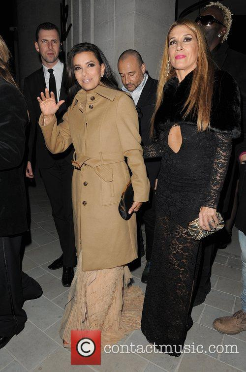 Eva Longoria leaving the Noble Gift Gala and...