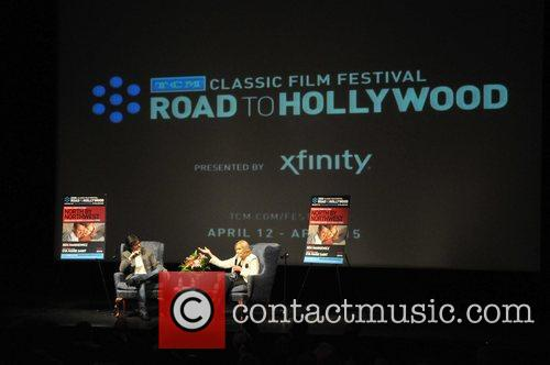 Ben Mankiewicz and Eva Marie Saint appearing at...