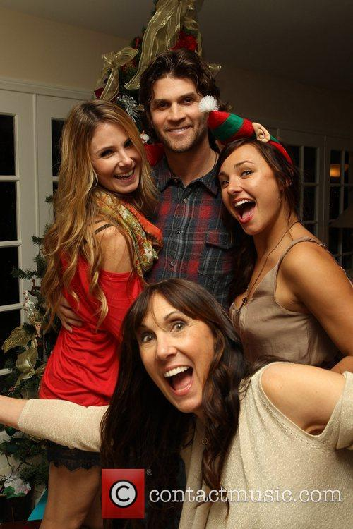 Vanessa Evigan with fiancee Miles, Briana Evigan, Pam...