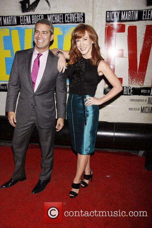 Andy Cohen and Kathy Griffin  Broadway opening...