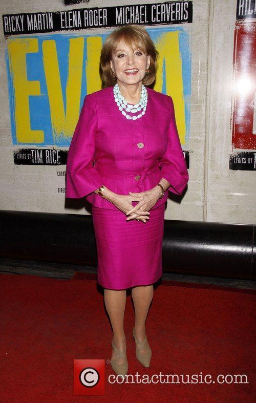 Barbara Walters  Broadway opening night of 'Evita'...