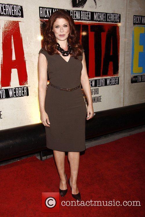 Debra Messing  Broadway opening night of 'Evita'...