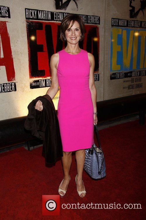 Elizabeth Vargas  Broadway opening night of 'Evita'...