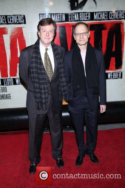 David Hyde Pierce and guest  Broadway opening...
