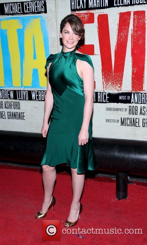 Ruth Wilson  Broadway opening night of 'Evita'...