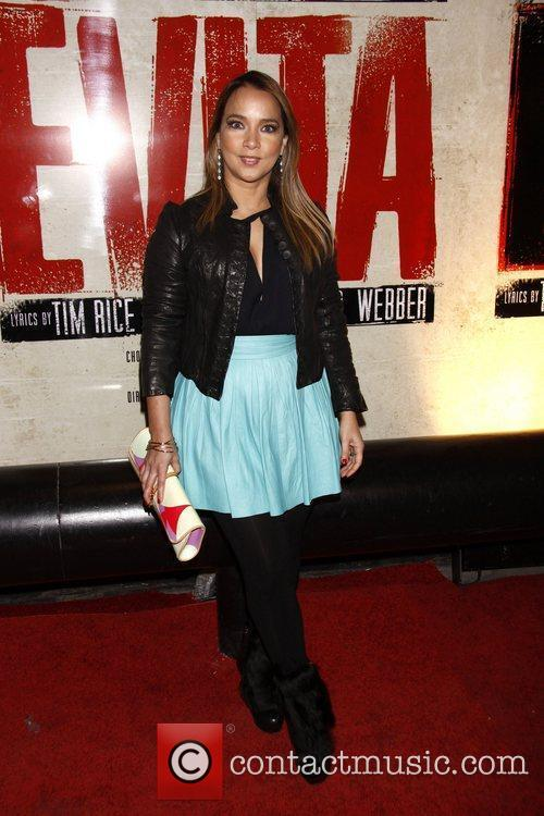Adamari Lopez Broadway opening night of 'Evita' at...