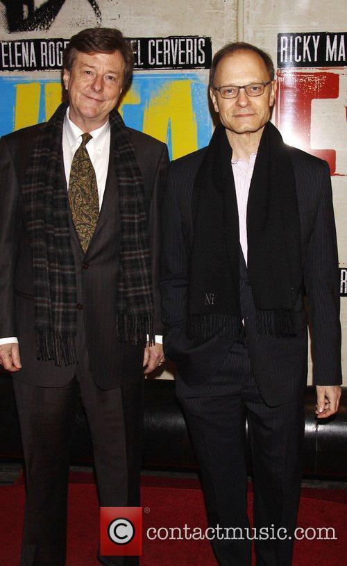 Brian Hargrove and David Hyde Pierce Broadway opening...