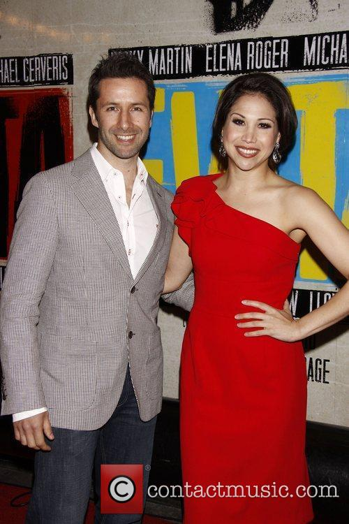 Marco Zunino and Bianca Marroquin  Broadway opening...