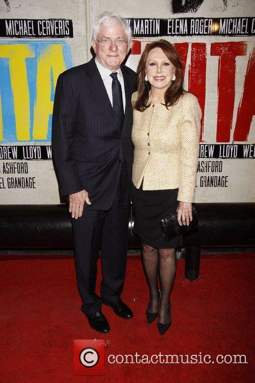 Phil Donahue and Marlo Thomas  Broadway opening...