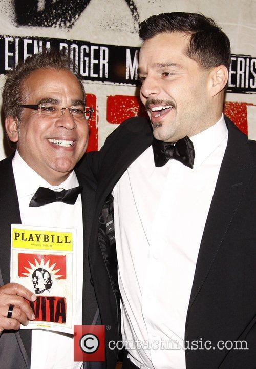 Richard Jay-Alexander and Ricky Martin Broadway opening night...