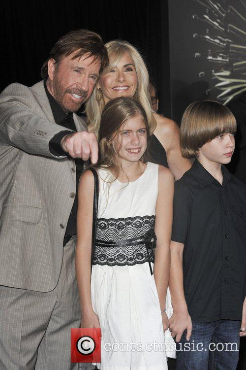 Chuck Norris, family  The Los Angeles Premiere...