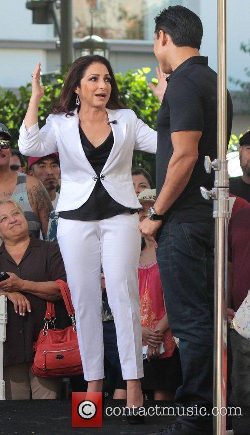 Gloria Estefan at The Grove to on entertainment...