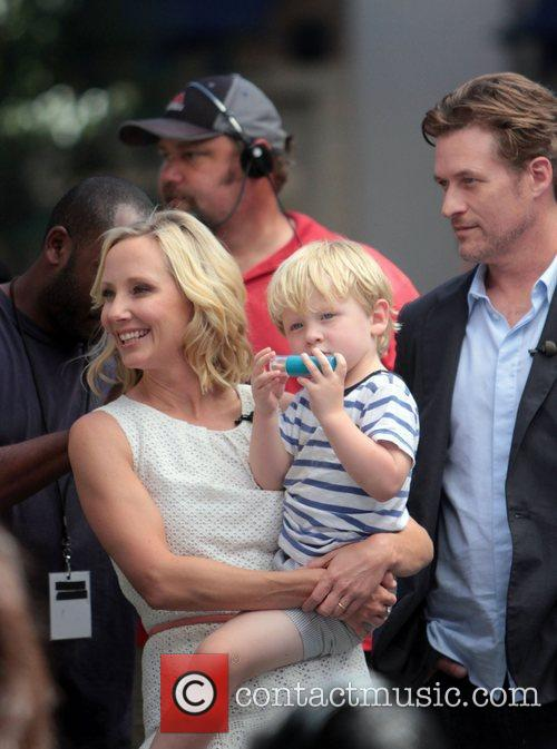 Anne Heche and husband James Tupper with their...
