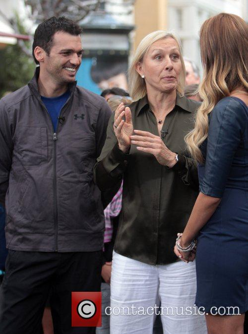 Martina Navratilova and Tony Dovolani 2