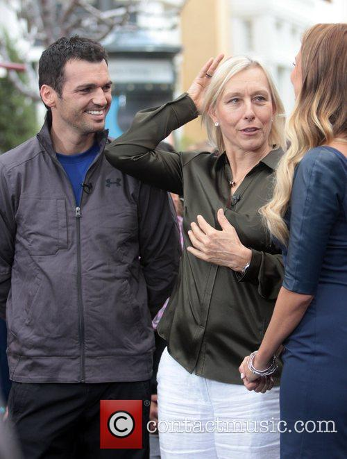 Martina Navratilova and Tony Dovolani 4
