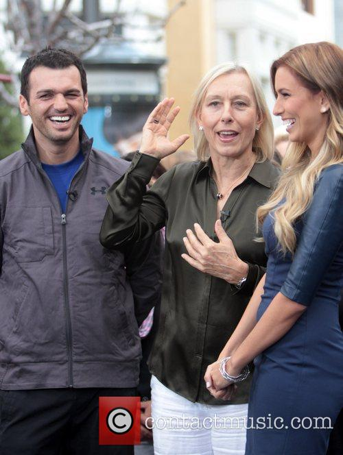 Martina Navratilova and Tony Dovolani 5