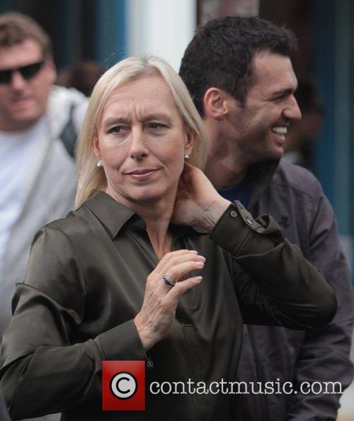 Martina Navratilova and Tony Dovolani 8