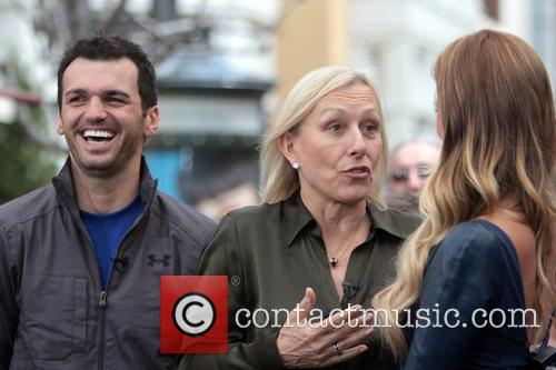 Martina Navratilova and Tony Dovolani 9