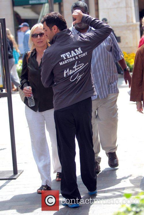 Martina Navratilova and Tony Dovolani 12