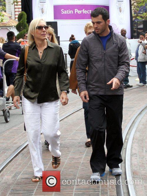 Martina Navratilova and Tony Dovolani