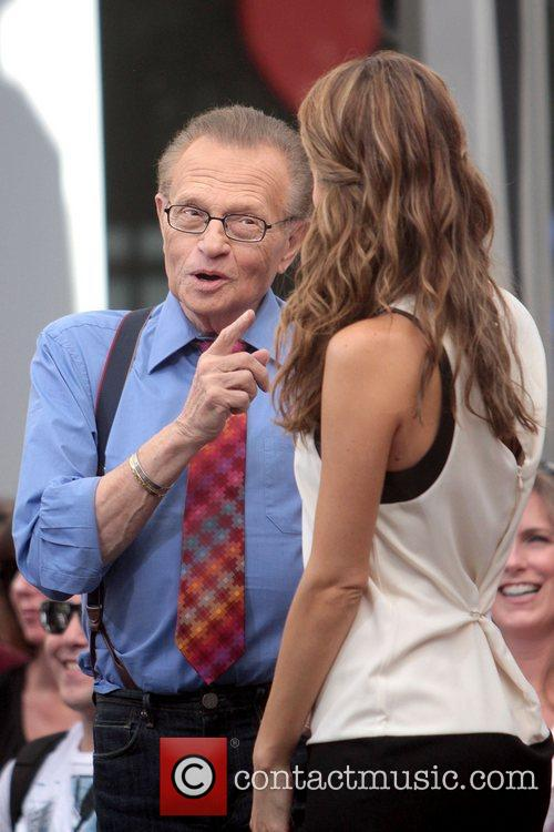 Larry King and Maria Menounos 2