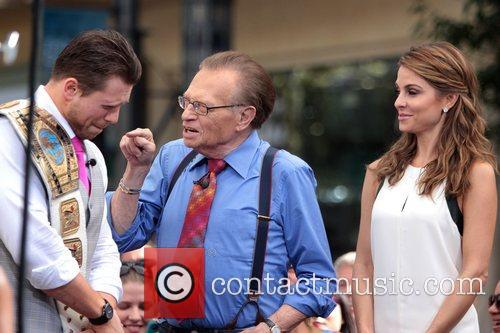 The Miz, Mike Mizanin, Larry King and Maria Menounos 3
