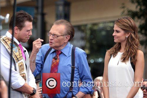 The Miz, Mike Mizanin, Larry King and Maria Menounos 5