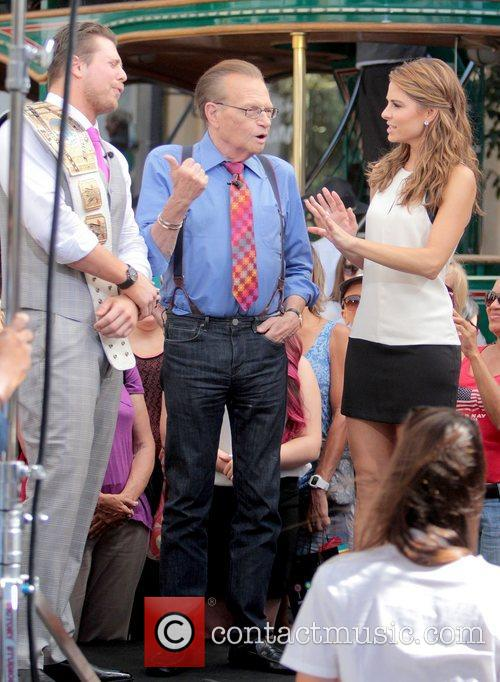 The Miz, Mike Mizanin, Larry King and Maria Menounos 10
