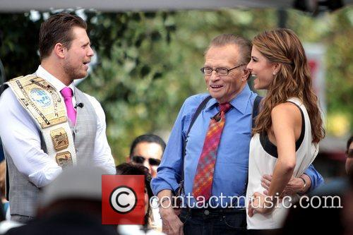The Miz, Mike Mizanin, Larry King and Maria Menounos 7