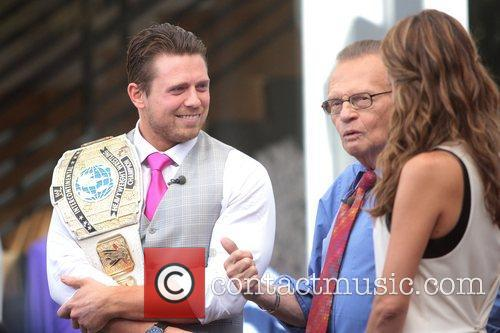 The Miz, Mike Mizanin, Larry King and Maria Menounos 2