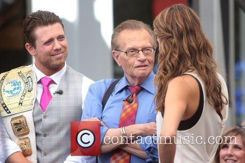 The Miz, Mike Mizanin, Larry King and Maria Menounos 4