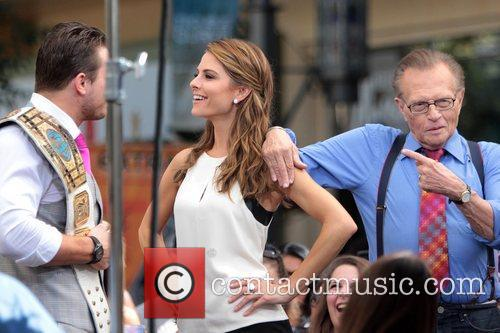 The Miz, Mike Mizanin, Larry King and Maria Menounos 9