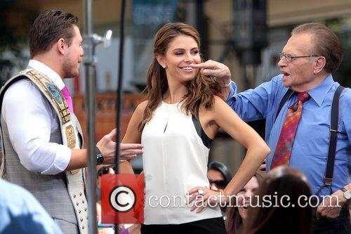 The Miz, Mike Mizanin, Larry King and Maria Menounos 1