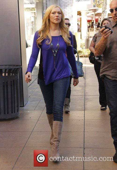 Laura Prepon Celebrities at The Grove ahead of...