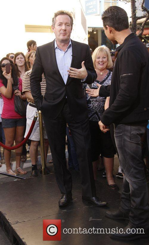 Piers Morgan Celebrities at The Grove ahead of...