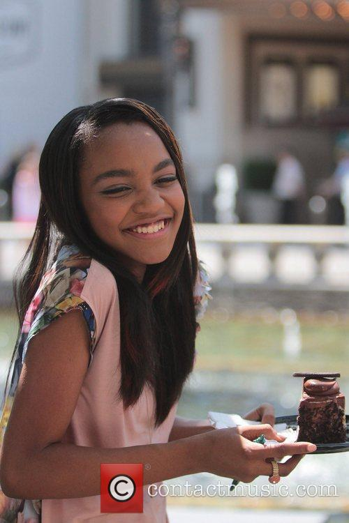 China Anne McClain Celebrities at The Grove for...