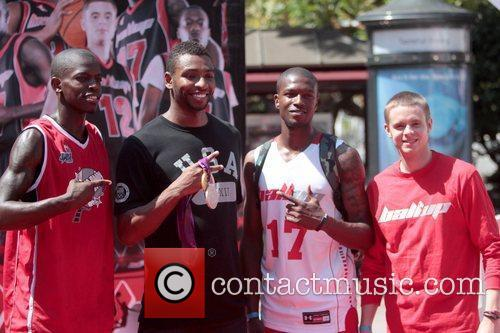 Cullen Jones Celebrities at The Grove for the...