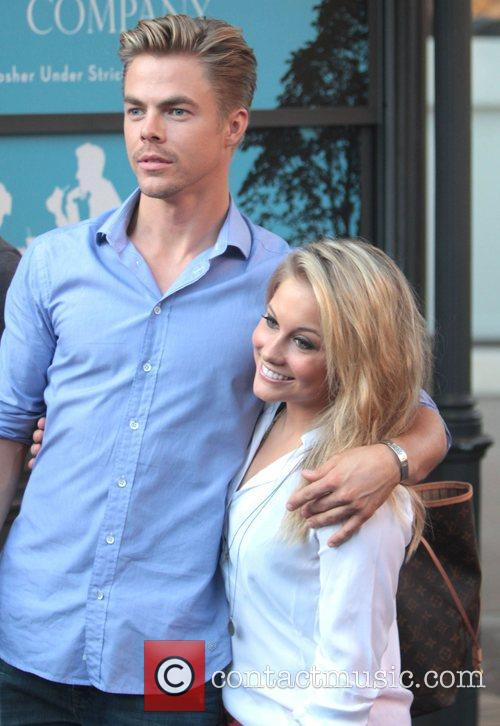 Derek Hough and Shawn Johnson Celebrities at The...