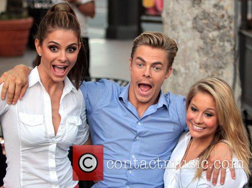 Maria Menounos, Derek Hough and Shawn Johnson Celebrities...