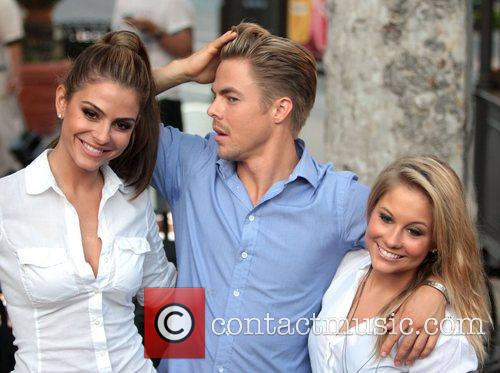 Maria Menounos, Derek Hough and Shawn Johnson 3