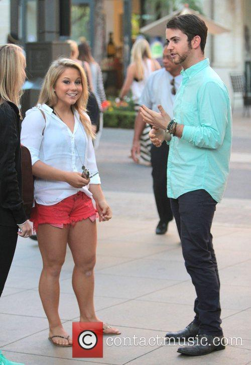 Shawn Johnson Celebrities at The Grove to appear...