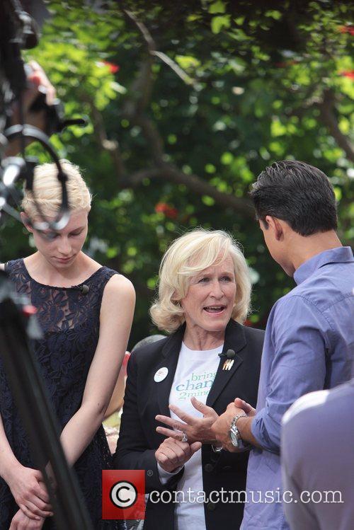 actress glenn close celebrities at the grove 5850195
