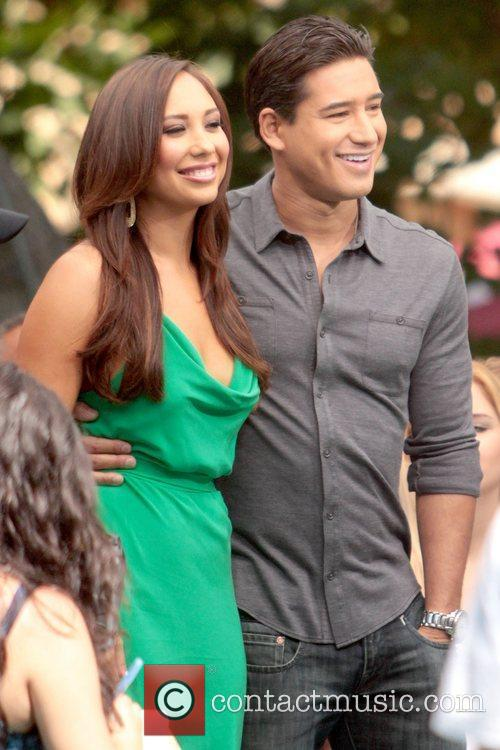 Cheryl Burke and Mario Lopez at The Grove...