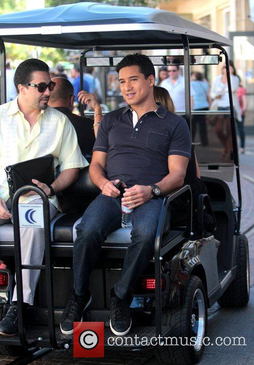 Mario Lopez at The Grove after filming for...