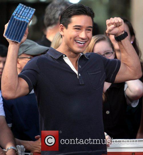 Mario Lopez at The Grove filming for 'Extra'...