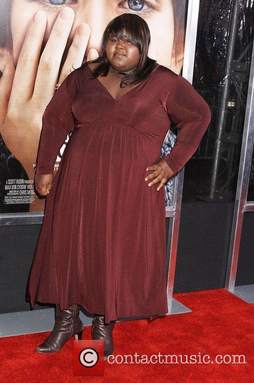 Gabourey Sidibe and Ziegfeld Theatre 1