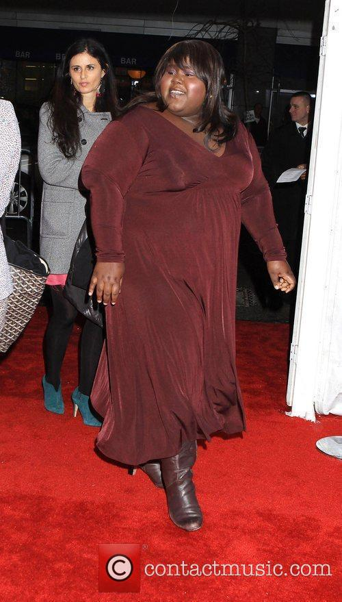 Gabourey Sidibe and Ziegfeld Theatre 2