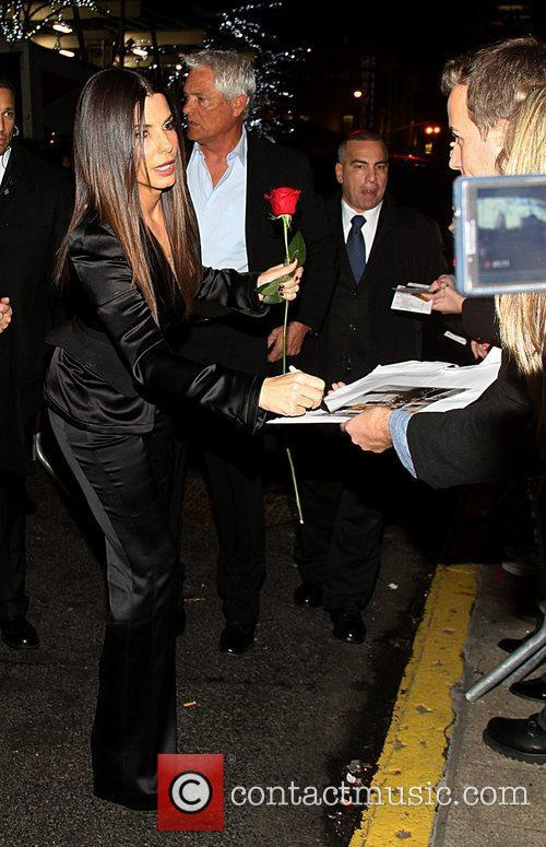 Sandra Bullock and Ziegfeld Theatre 9