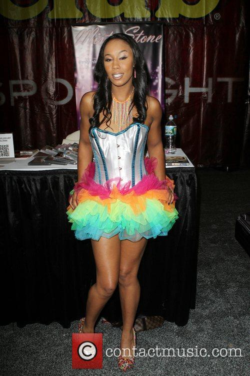 Misty Stone attends Exxxotica 2012 at the...