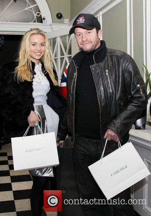 Noelle Reno and Scott Young attending the Faberge...